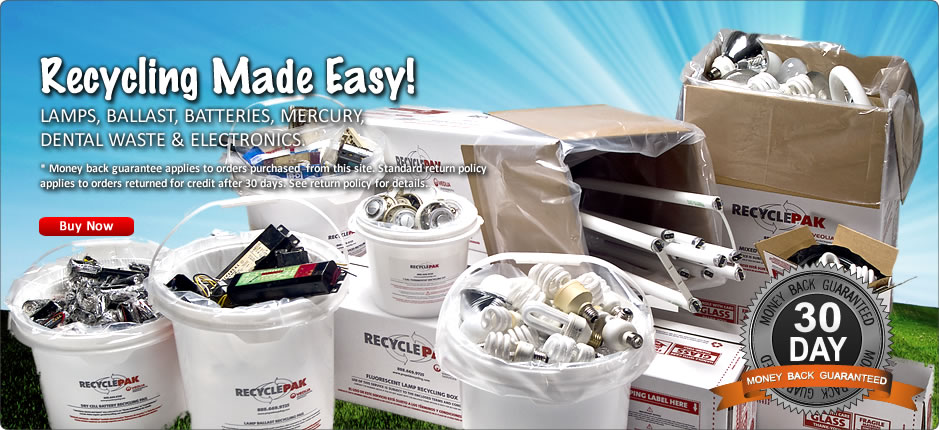 Lamp, Ballast, Battery, Mercury and Electronics Recycling